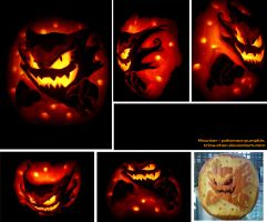 Haunter Pumpkin by Trinamon