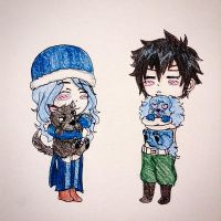Gruvia puppies by KikiOneeChan