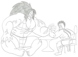 Hulk Toph vs Hercules Aang Arm Wrestle by CatsTuxedo