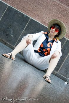 Monkey D. Luffy | Movie Gold | White | I by Wings-chan