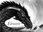 dragon black and white by Eleween