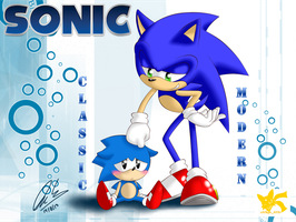 Sonic Classic And Modern by Chipo811
