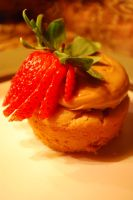 TopShelf Peanut Butter and Strawberry Cupcake by PRND3L