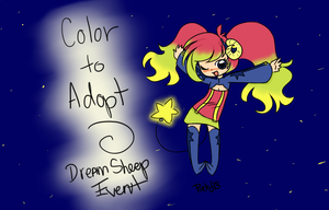 Dream Sheep - Colour To Adopt - Entry by BunnehLuver