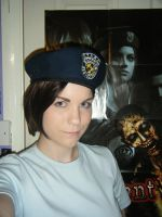 REmake Jill- wig + beret test by Leonie-Heartilly