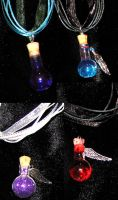 More Bottle Charm Pendants by lady-cybercat