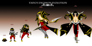 Taiyo's Digimon Evolution by AdmirenKiwi