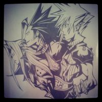 Sephiroth Zack and Cloud FF7 crisis core by xXEA20Xx