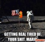 Mario on the Moon by Realangrybirdplush