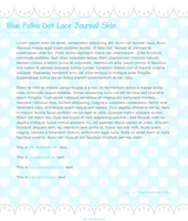Blue Polka Dot Lace Journal Skin by Cupcake-Kitty-chan