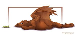Pern: Brown Hatchling Sorvoth by frisket17