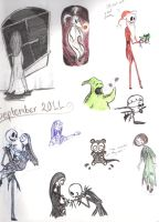 Nightmare Sketchbook Page by DupleSnowflake