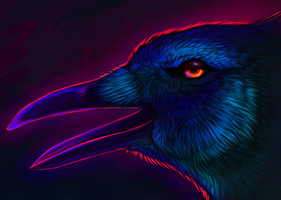 Crow Speedpaint by Chaosthief