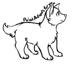 Free lineart - ms paint by PointAdoptsforyou