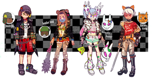 ADOPTABLE SET 4: STREET FASHION FIGHTERS! [CLOSED] by CARPFISH