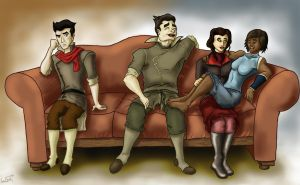 On the Couch (Korra) by cinemadness