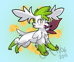 sky forme shaymin by Garden-Galettes
