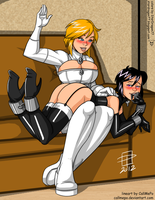 Coloring Commission - Aidenke - PowerGirl Atlee by StarDragon77