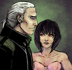 Batou and the Major by 9ofcups