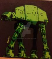 Green Atat by ScrageArt