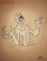 Inktober-#23-Creature From The Black Lagoon by Chadwick-J-Coleman