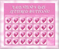 Fluffy Lettered Buttons by TNBrat