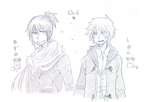 Nezumi and Shion by pearsfears