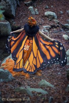 Monarch Butterfly cape by Costurero-Real