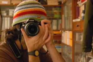 me and my nikon d60 by covanea