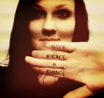 Give peace a chance by Yustity
