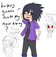 Sasukes new swag look:HATERS GONNA HATE? by itasasu2002
