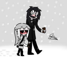 Jeff and BEN Out for Some Hot Chocolate by iloveshadowgirl