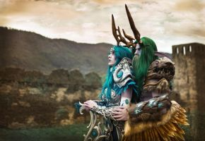 Malfurion and Tyrande cosplay by emilyrosa