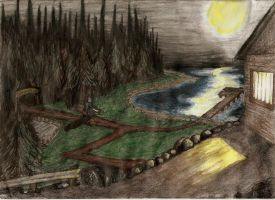 FvJC Scenic Camp Crystal Lake by Psychicbard