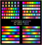Rainbow gradient pack for Ultra Fractal by Velvet--Glove