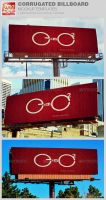 Corrugated Billboard Mockup Template by loswl
