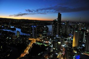 gold coast sunset by shreee