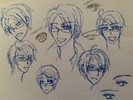 America facial and eye practice :3 by agerose15