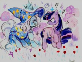 Trixie vs. Twilight by SonicPossible00