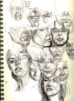 Lower face sketches by Ezekiel-Black