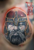 Viking,Tattoo based on Pearl Jam cover by Tomyslav