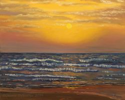 Sea sunset by Oksana007