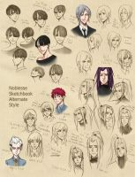 Noblesse alternative style sketchdump by Ileranerak
