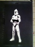 Clone Trooper stencil test by Sephorangelus