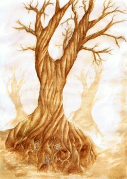 the Sleepy Hollow tree by The-Purring-Teapot