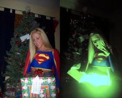 Supergirl Christmas by megmurrderher