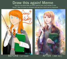 Draw this Again: Ginny Weasley by PlatinaSi