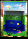 Happy Frog Pond Nightstand - Front View by ReincarnationsDotCom