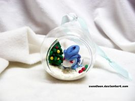 Shiny Suicune Christmas Ornament by Swadloon
