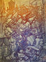 Transformers Fall of Cybertron Poster by AeRo04